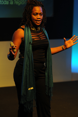 Epsy Campbell, Afro-Costa Rican Congresswoman and a presidential candidate in 2010 elections