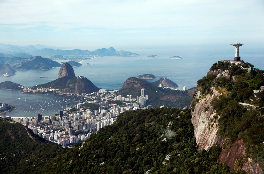 A view of Rio de Janeiro from the city's famous Christ the Redeemer statue. (Jamie Squire/Getty Images)