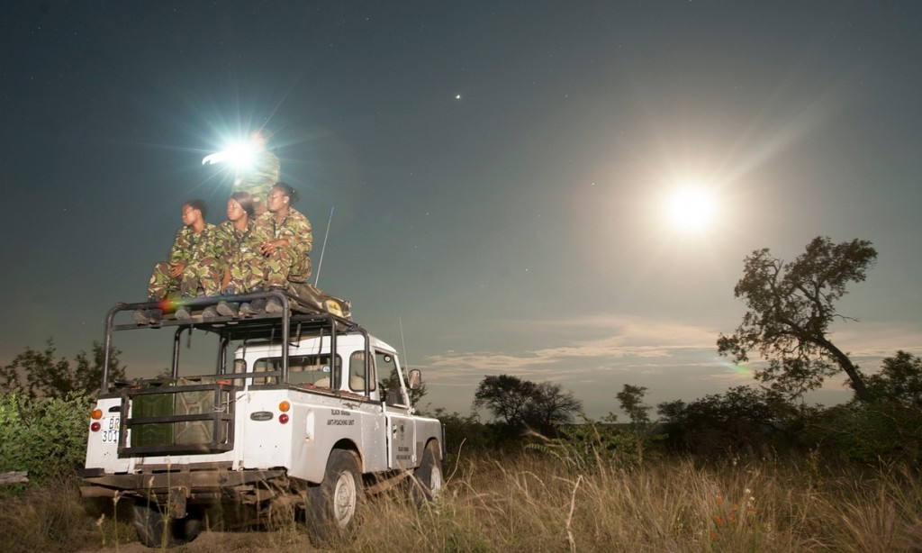 The first all-female anti-poaching unit in Africa, on patrol in Balule nature reserve. Photograph: Jeffrey Barbee/Jeffrey Barbee