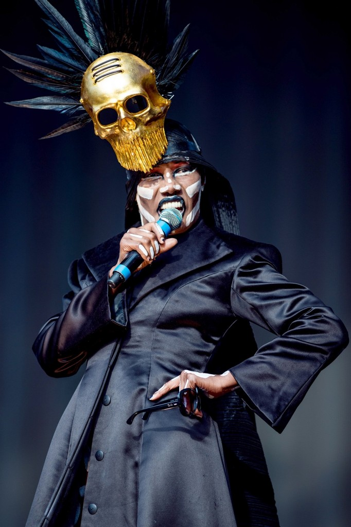 Grace Jones performs at the British Summertime festival in Hyde Park last summer. Photograph: Neil Lupin/Redferns via Getty Images