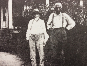 Zach Hubert after emancipation, standing with the son of the owner of the plantation where he was enslaved. (Photo courtesy of Leola Hubbard)