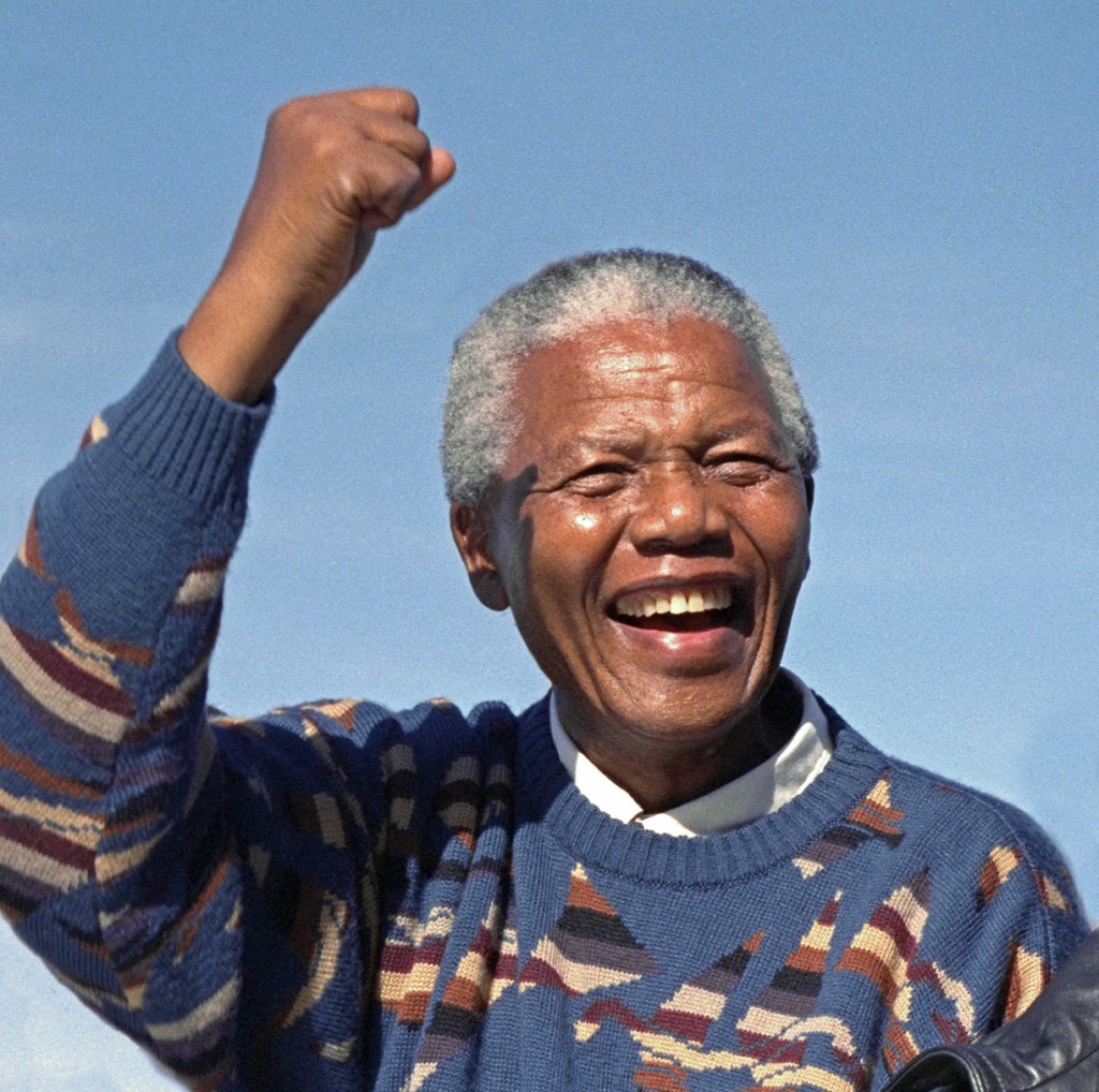 Nelson Mandela During Election Campaign, Athlone Stadium, Cape Town ...