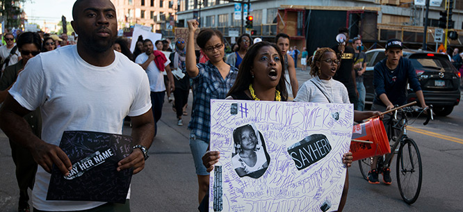 March for Sandra Bland, Minneapolis, Minnesota, July 31, 2015 (Fibonacci Blue / Flickr)