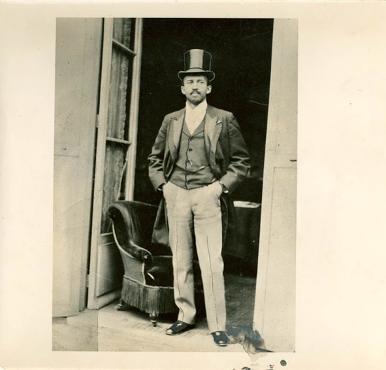 Dr. W.E.B. Du Bois at the Paris Exposition in 1900.