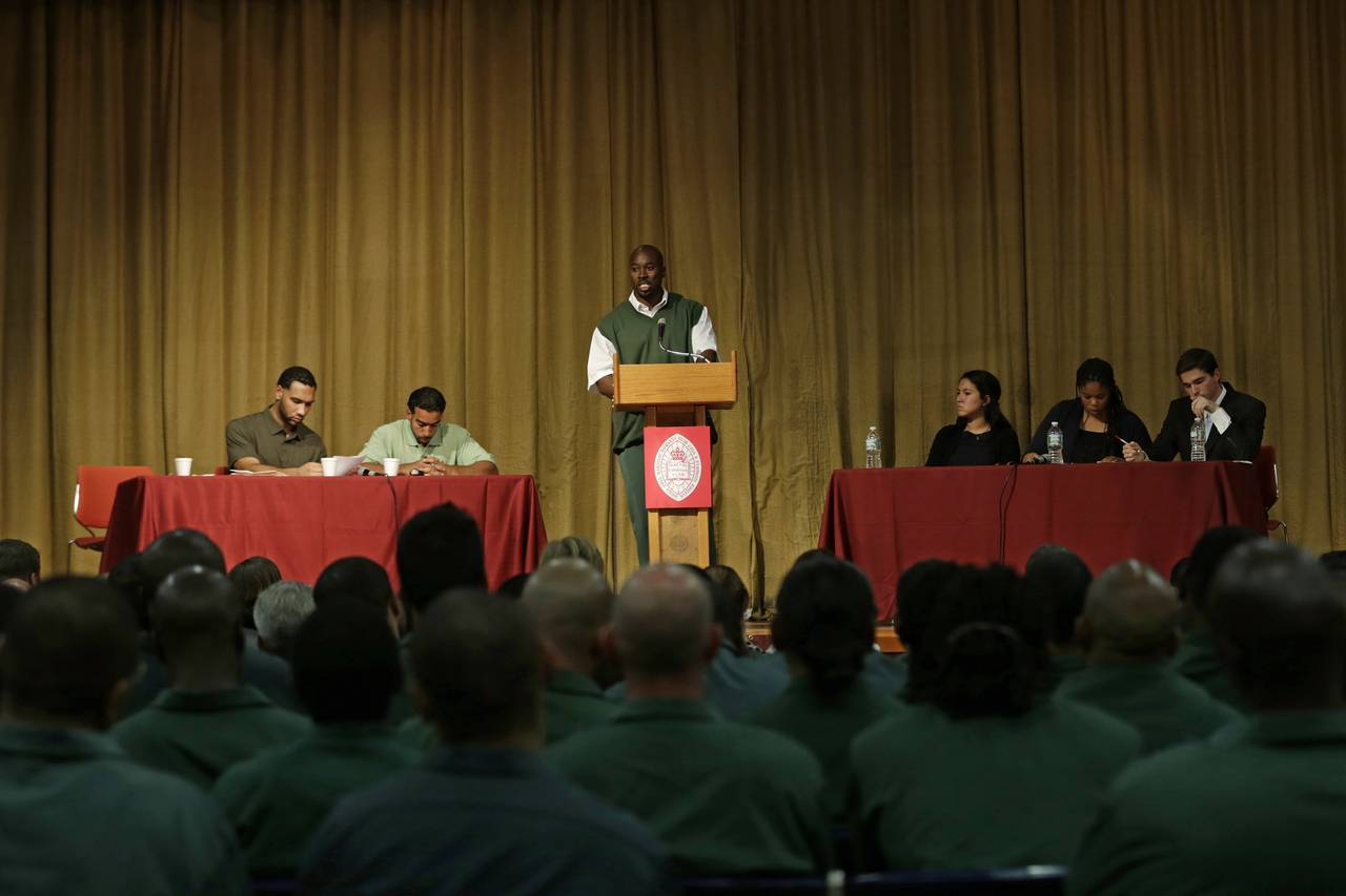 prison debate Matchup to pit wiley students against inmates of texas state penitentiary at huntsville and shine light on higher ed in prisons on october 6, two great debaters will travel to huntsville, texas, to participate in an exhibition debate against two inmates of the texas state penitentiary at huntsville (hv.