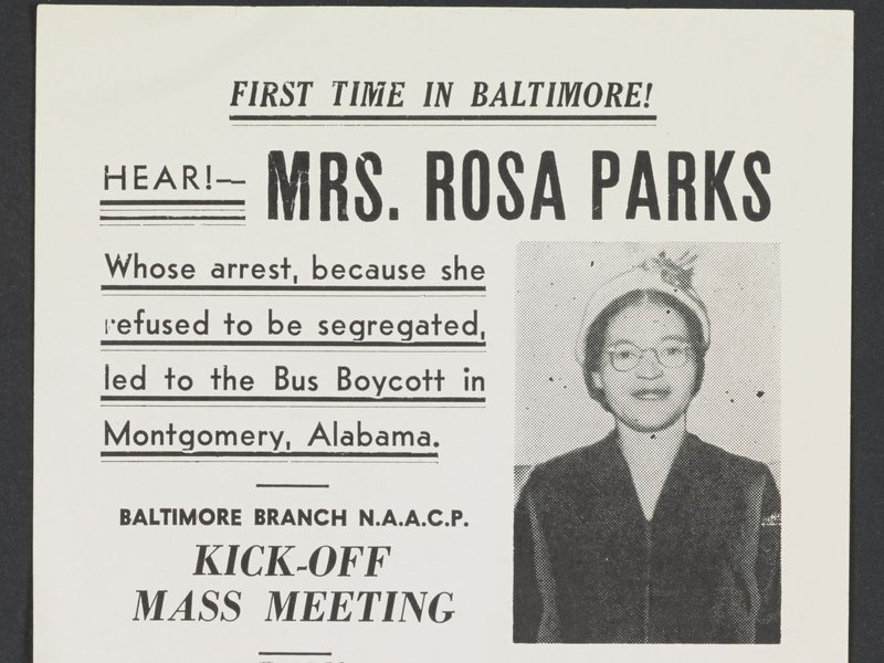 This 1956 poster is just one of thousands of items of Rosa Parks ...