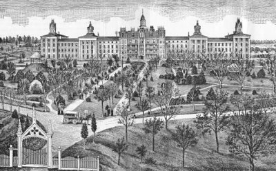 The State Lunatic Asylum in Fulton, Missouri.  The asylum opened in 1851, four years before the Fulton became the site of Celia's murder trial.