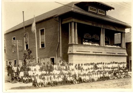 Pictured: Marie Couvent School c 1924. Courtesy of the Office of Archives and Records of Archdiocese of New Orleans