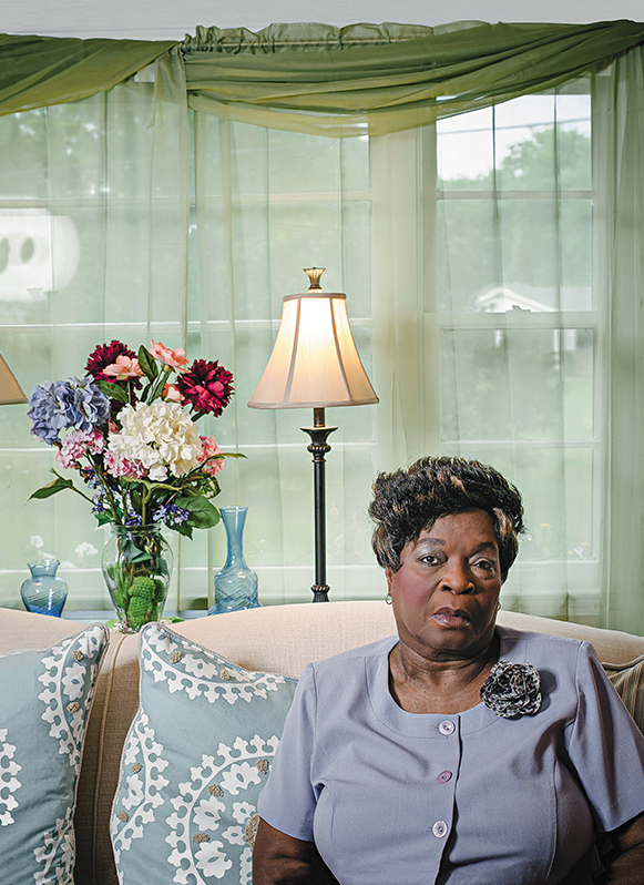 """Florence Hall Blair, at home in Nashville, is a descendant of a slave who worked on Isaac Franklin's estate. """"If you carry hatred or strong dislike for people,"""" she says, """"all you are doing is hurting yourself."""" (Wayne Lawrence)"""