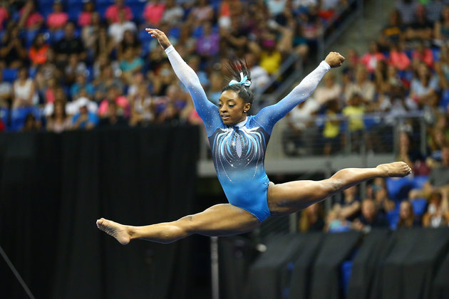 Sports Simone Biles Makes History With 4th Consecutive