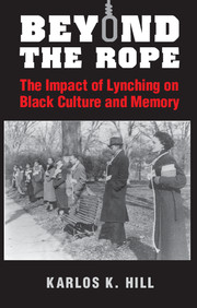 Beyond the Rope is an interdisciplinary study that draws on narrative theory and cultural studies methodologies to trace African Americans' changing attitudes and relationships to lynching over the twentieth century. Whereas African Americans are typically framed as victims of white lynch mob violence in both scholarly and public discourses, Karlos K. Hill reveals that in the late nineteenth and early twentieth centuries African Americans lynched other African Americans in response to alleged criminality, and that twentieth-century black writers envisaged African American lynch victims as exemplars of heroic manhood. By illuminating the submerged histories of black vigilantism and consolidating narratives of lynching in African American literature that framed black victims of white lynch mob violence as heroic, Hill argues that rather than being static and one dimensional, African American attitudes towards lynching and the lynched black evolved in response to changing social and political contexts.