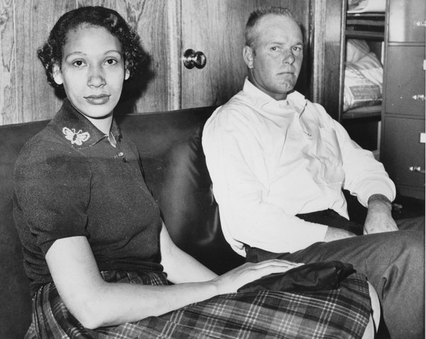Mildred Loving and her husband, Richard P. Loving, are shown on Jan. 26, 1965. In 1967, the ruling in the Lovings' Supreme Court case officially legalized interracial marriage. AP