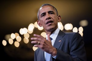 President Obama speaks at the Presidential Summit of the Mandela Washington Fellowship for Young African Leaders on Aug. 3 in Washington, D.C. Brendan Smialowski/AFP/Getty Images