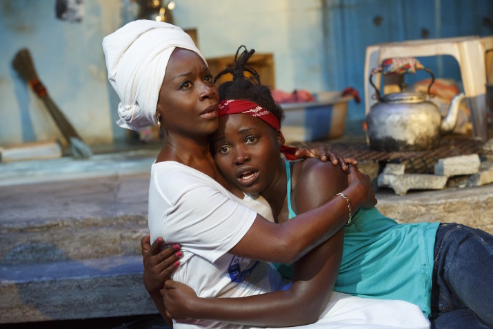 Lupita Nyong'o and Akosua Busia in Eclipsed. Photo credit: Joan Marcus.