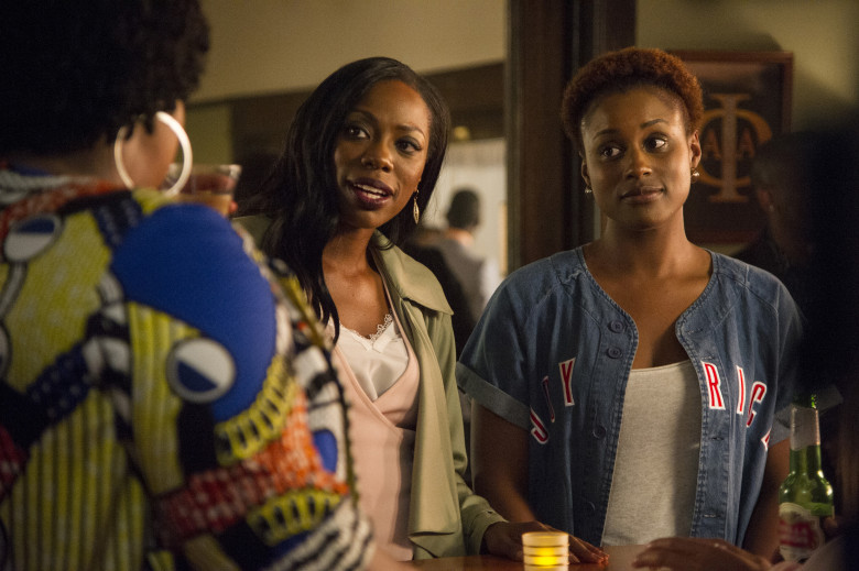 Molly (Yvonne Orji) and Issa (Issa Rae) in Insecure.