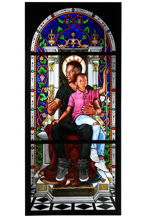 Photo: Kehinde Wiley, The Virgin and Child, Enthroned