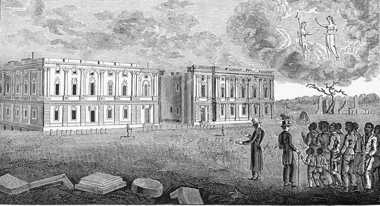 View of the Capitol of the United States after the Conflagration in 1814, American Slave Trade Collection (Schomburg Center Manuscripts, Archives and Rare Books Division)