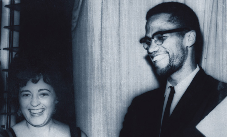 Ana Livia Cordero and Malcolm X, with whom she corresponded (Courtesy of the Schlesinger Library, Radcliffe Institute, Harvard University).