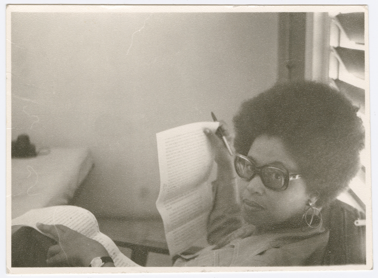 "Schomburg Center for Research in Black Culture, Photographs and Prints Division, The New York Public Library. ""Portrait of Jamaican novelist, dramatist, essayist and academic Sylvia Wynter, circa 1970s."""