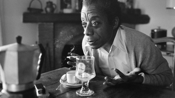 James Baldwin poses at his home in Saint-Paul-de-Vence, France in 1979. Ralph Gatti/AFP/Getty Images