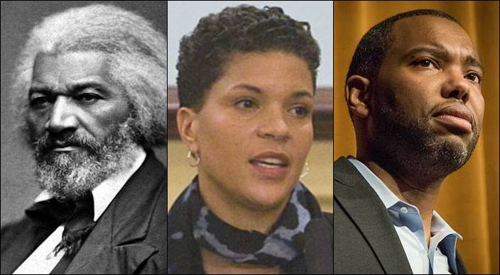 Frederick Douglass, Michelle Alexander, Ta-Nehisi Coates: Photos: National Archives, Miller Center of Public Affairs, Eduardo Montes-Bradley