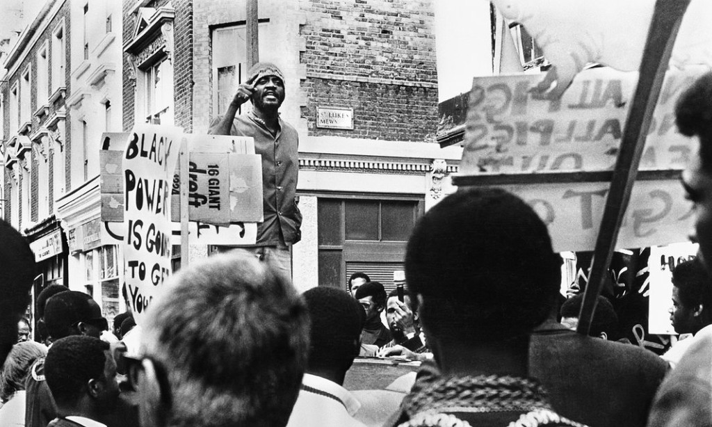Darcus Howe addresses a rally for the Mangrove Nine in Notting Hill in 1971. Photograph: Horace Ove