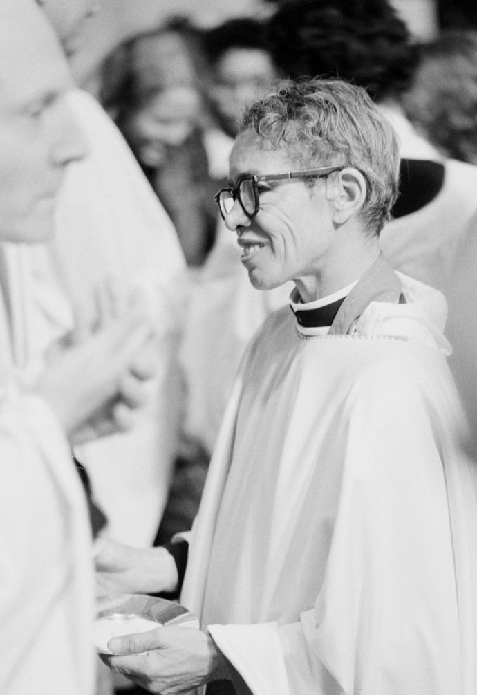Murray's final triumph was to become the first African-American woman vested as an Episcopal priest. Photograph from AP