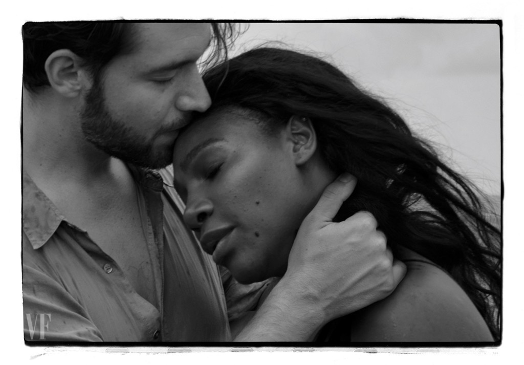 Williams and fiancé Alexis Ohanian, photographed in Highland Beach. Photograph by Annie Leibovitz.